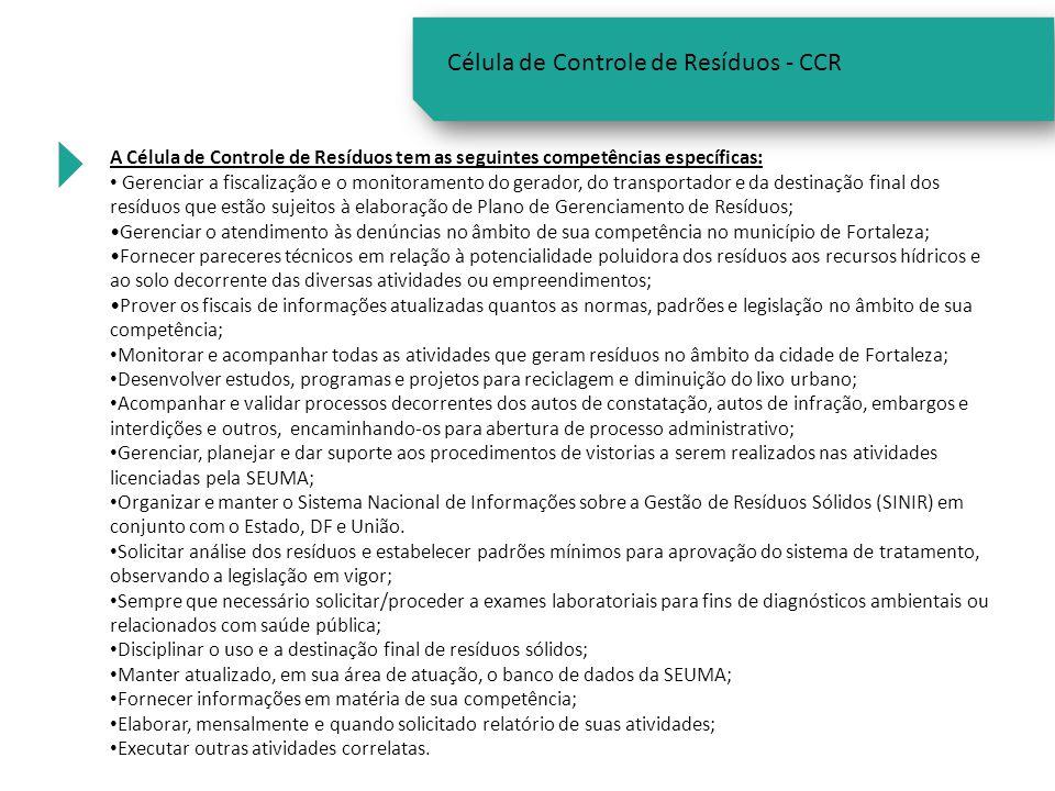 Célula de Controle de Resíduos - CCR