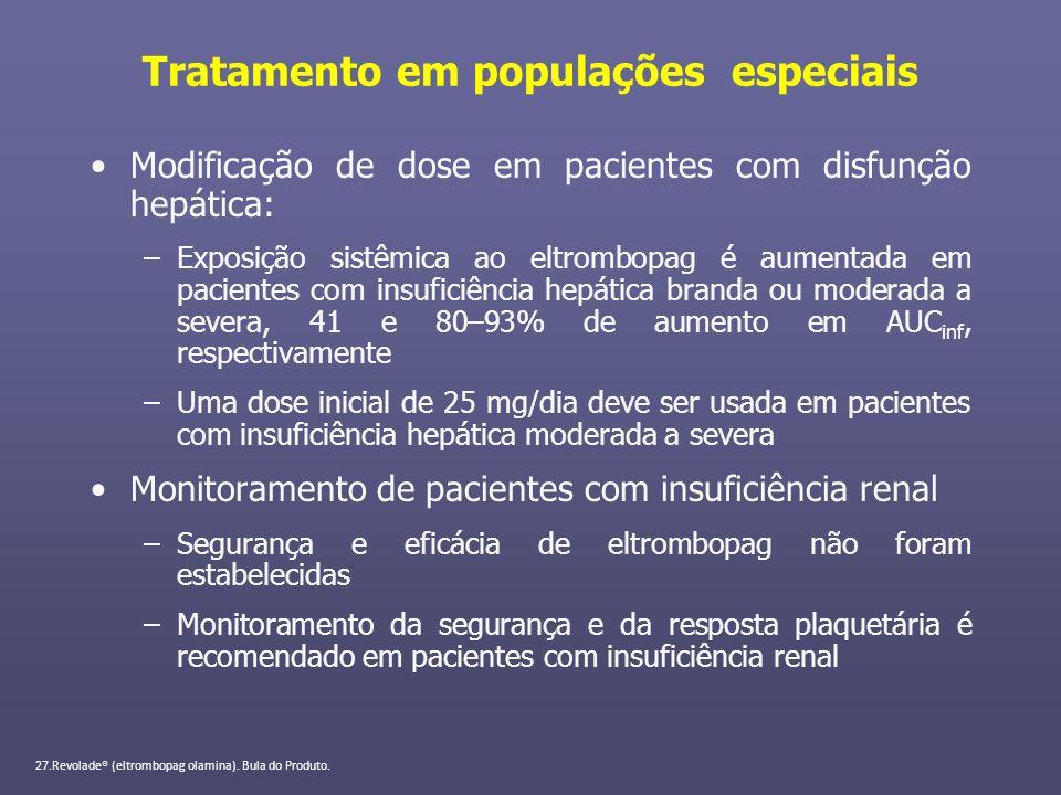 Tratamento em populações especiais