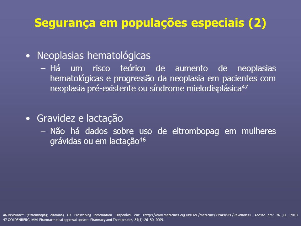 Segurança em populações especiais (2)