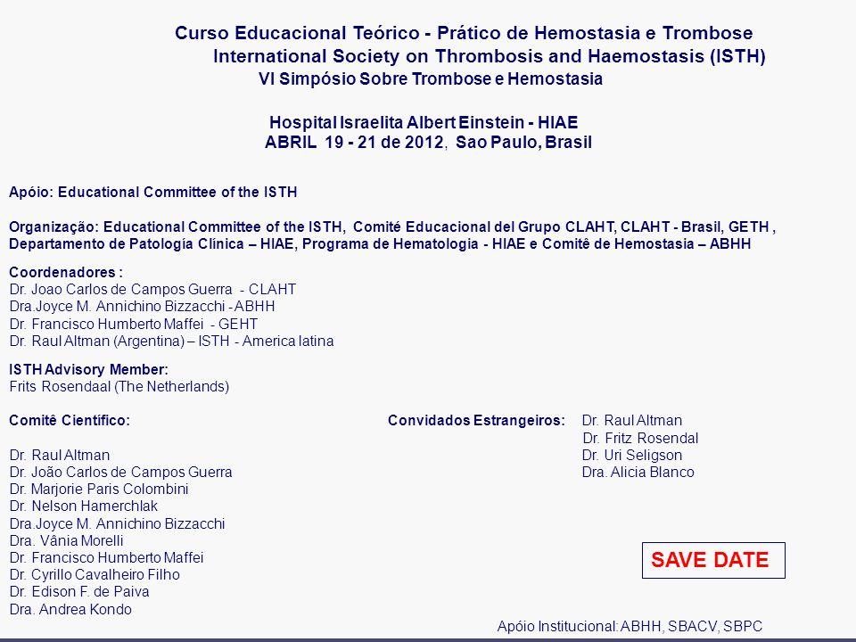 Curso Educacional Teórico - Prático de Hemostasia e Trombose