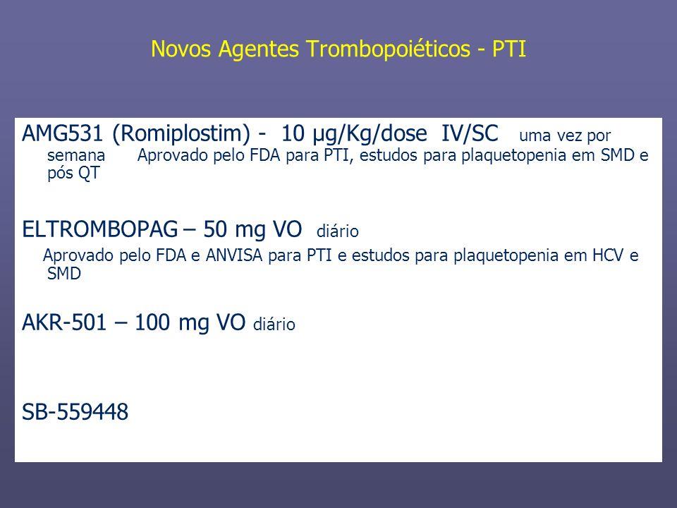 Novos Agentes Trombopoiéticos - PTI