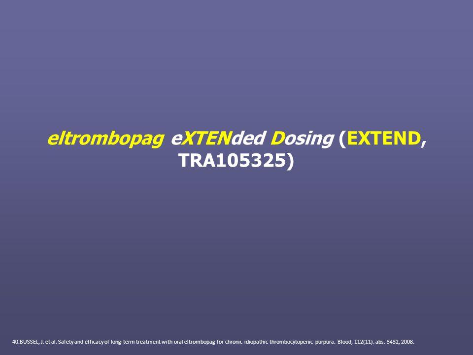 eltrombopag eXTENded Dosing (EXTEND, TRA105325)
