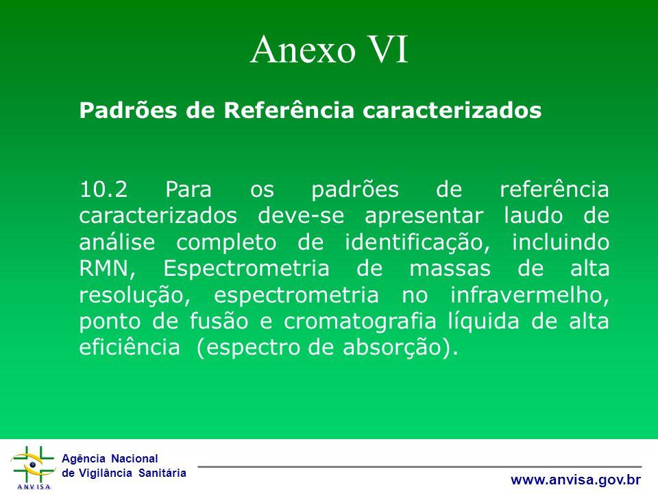 Anexo VI Padrões de Referência caracterizados