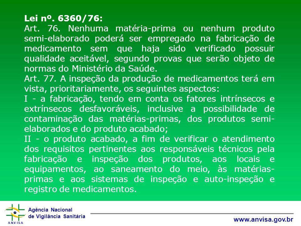 Lei nº. 6360/76:
