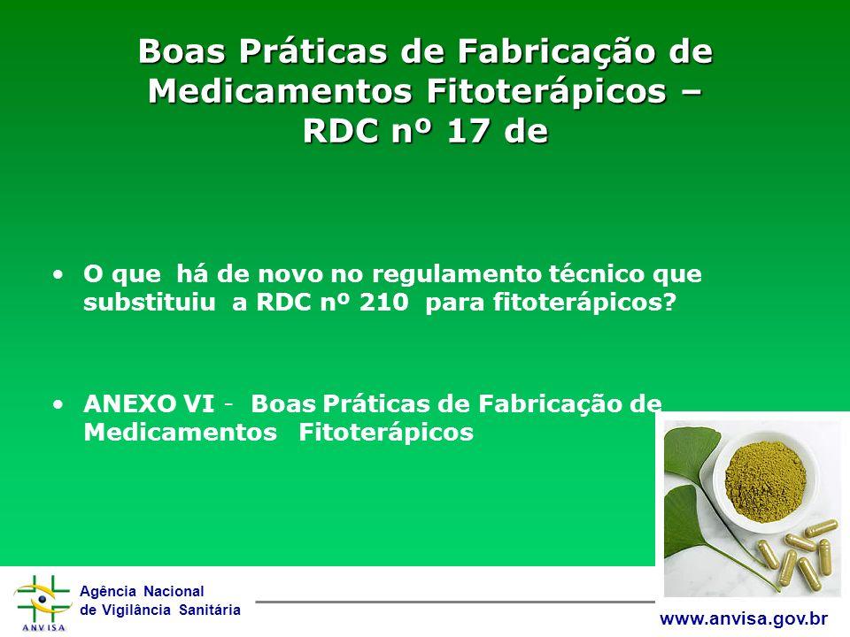Boas Práticas de Fabricação de Medicamentos Fitoterápicos – RDC nº 17 de