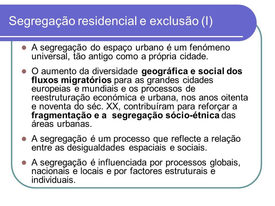 Segregação residencial e exclusão (I)