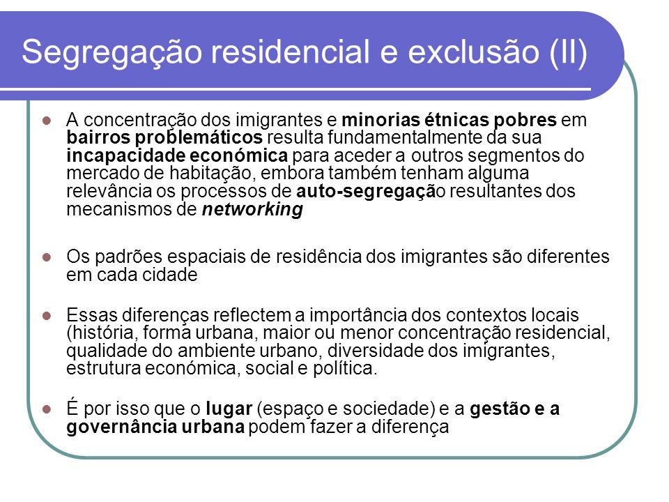 Segregação residencial e exclusão (II)