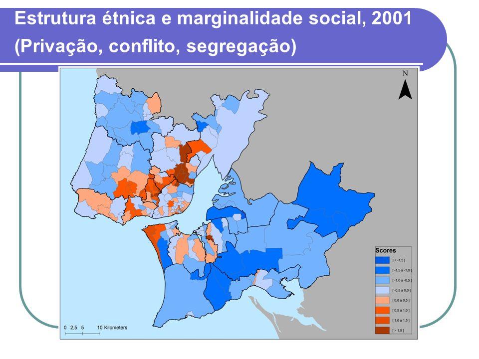 Estrutura étnica e marginalidade social, 2001