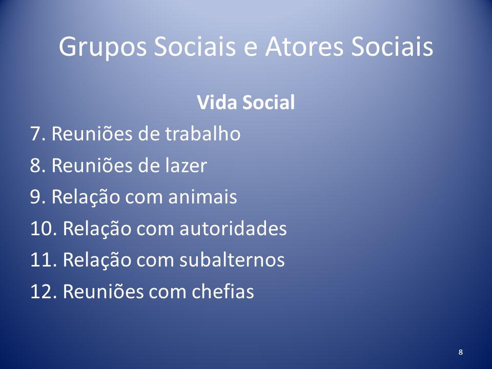 Grupos Sociais e Atores Sociais