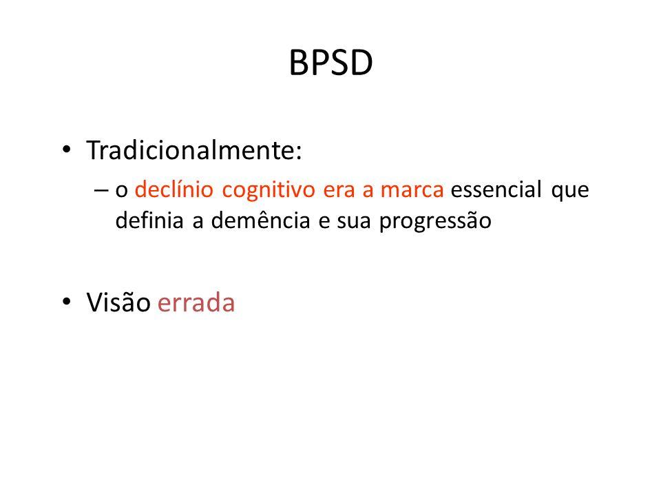 BPSD Tradicionalmente: Visão errada