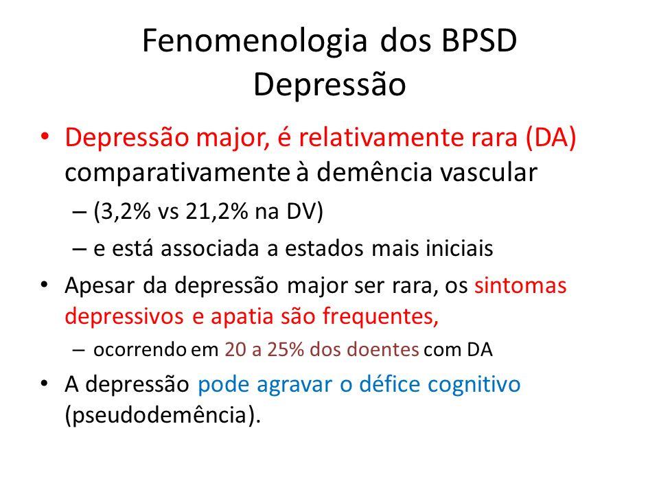 Fenomenologia dos BPSD Depressão