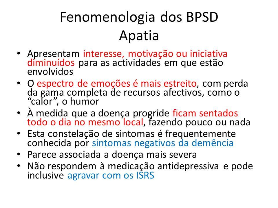 Fenomenologia dos BPSD Apatia