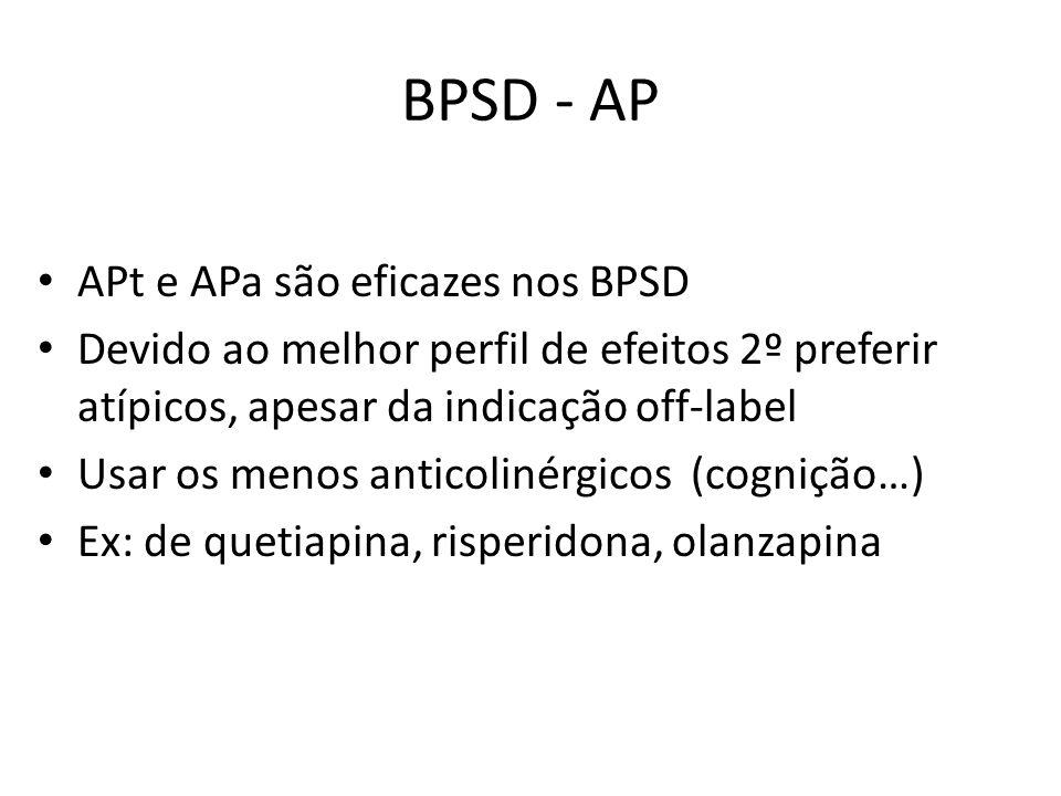 BPSD - AP APt e APa são eficazes nos BPSD