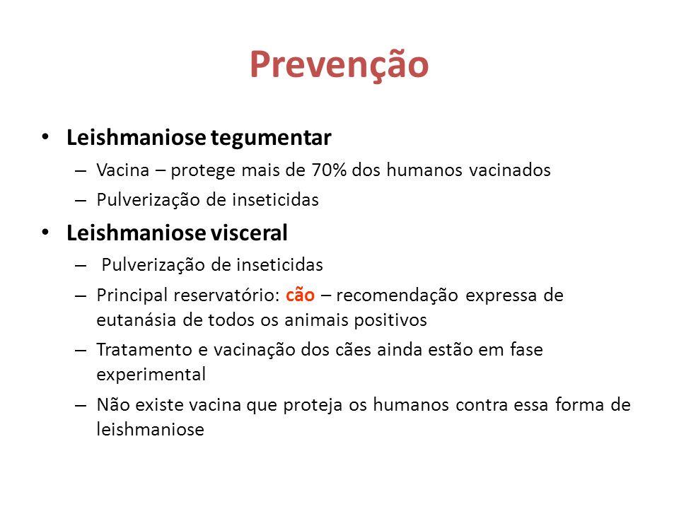 Prevenção Leishmaniose tegumentar Leishmaniose visceral