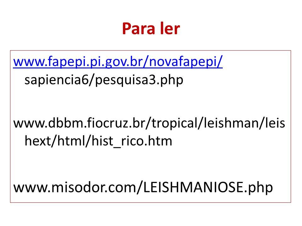 Para ler www.misodor.com/LEISHMANIOSE.php