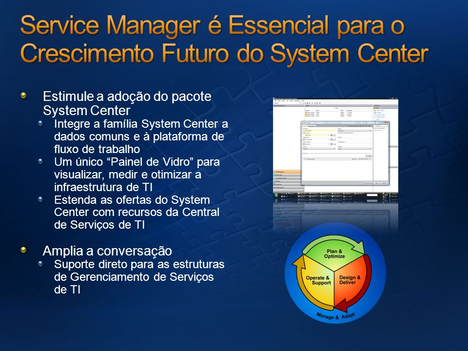 Service Manager é Essencial para o Crescimento Futuro do System Center