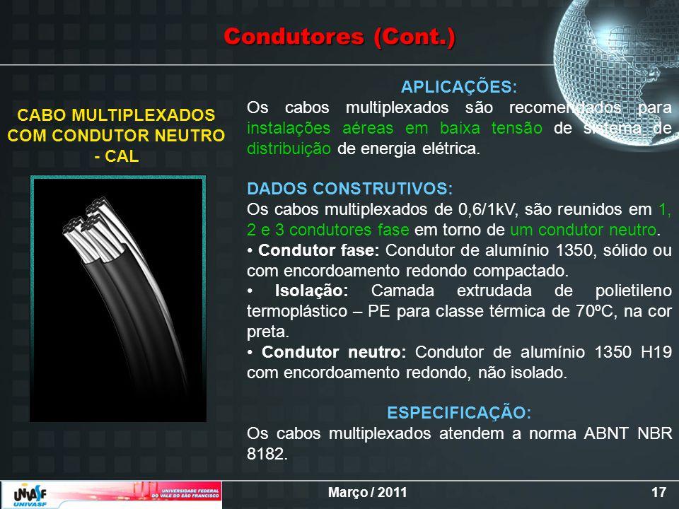 CABO MULTIPLEXADOS COM CONDUTOR NEUTRO - CAL