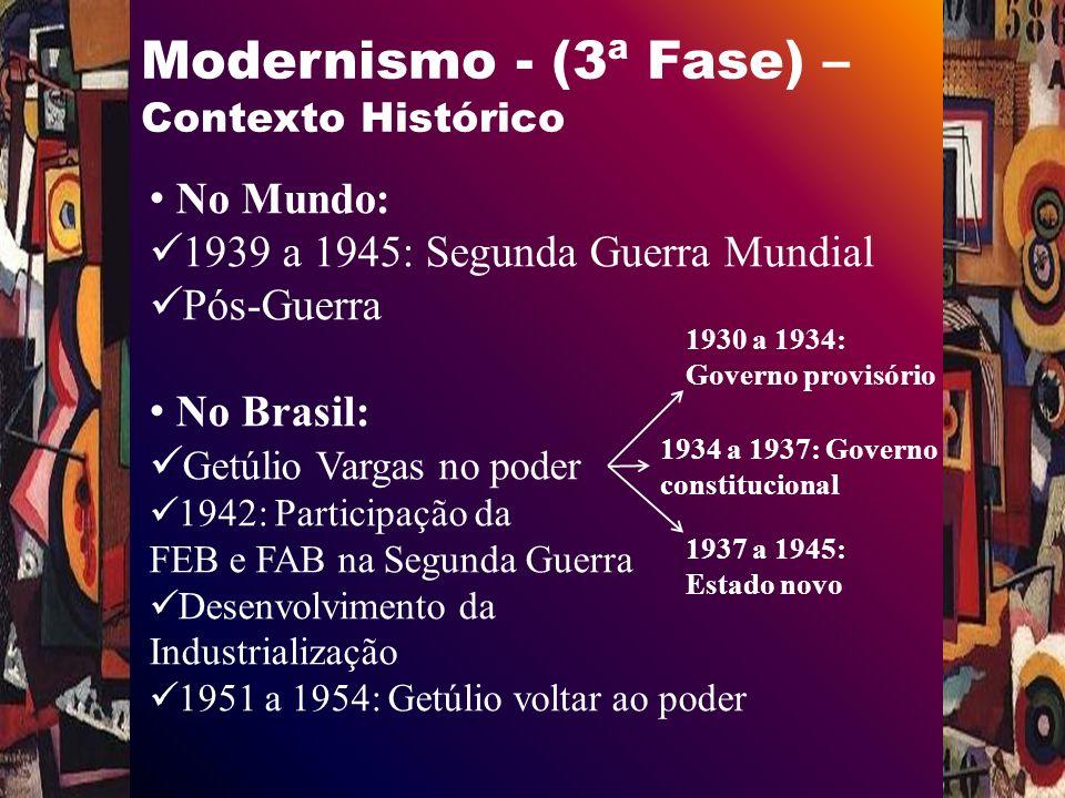 Modernismo - (3ª Fase) – Contexto Histórico