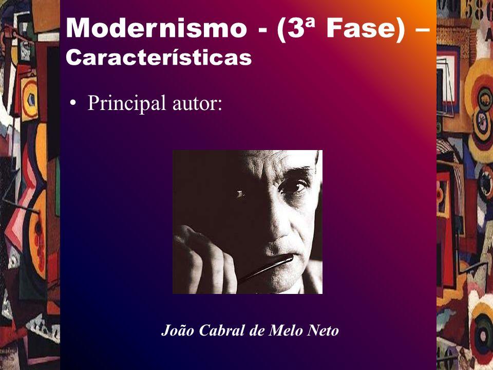 Modernismo - (3ª Fase) – Características