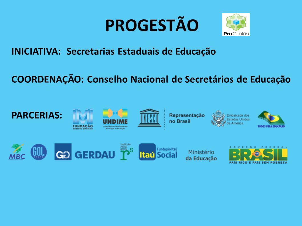 PROGESTÃO INICIATIVA: Secretarias Estaduais de Educação