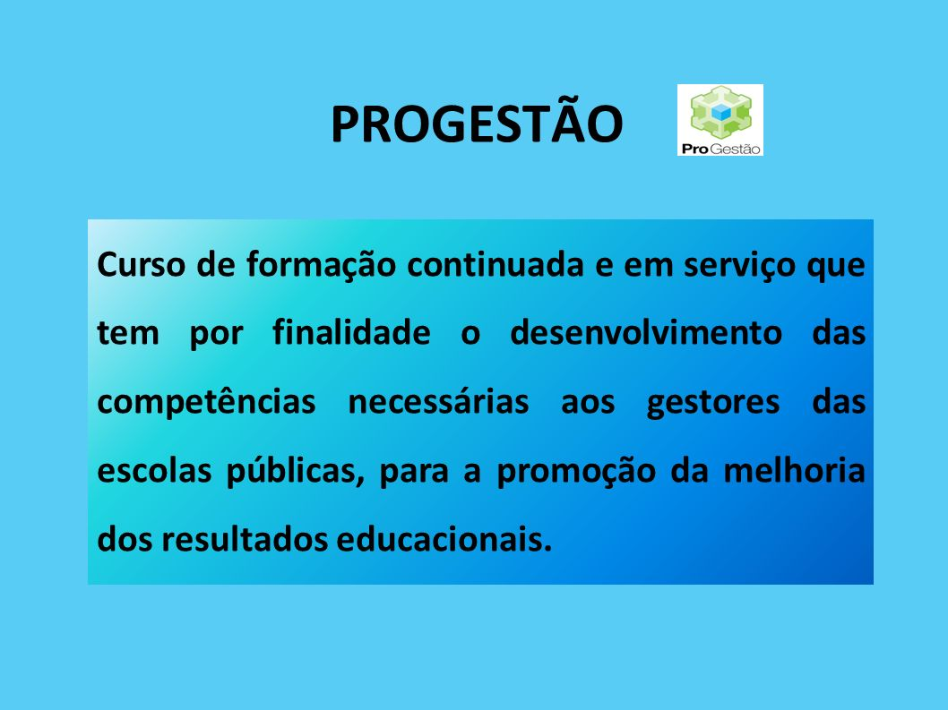 PROGESTÃO