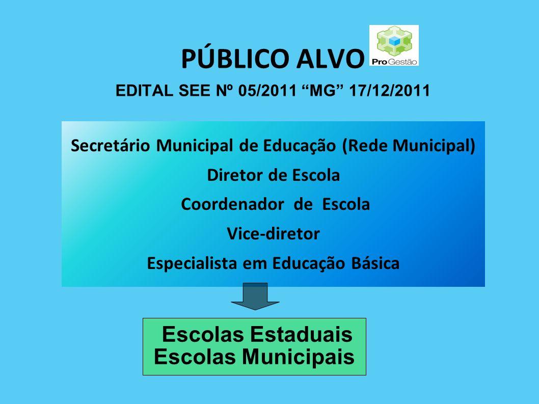 PÚBLICO ALVO EDITAL SEE Nº 05/2011 MG 17/12/2011