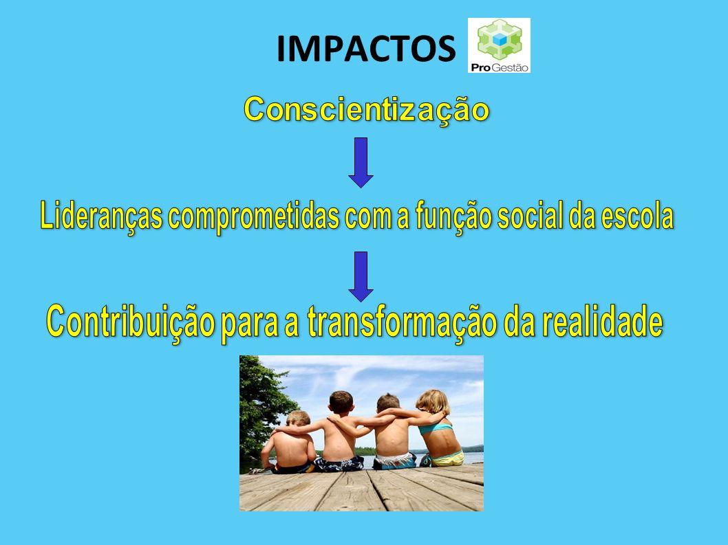 IMPACTOS Lideranças comprometidas com a função social da escola