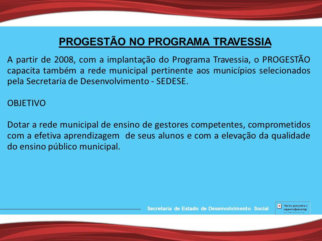 PROGESTÃO NO PROGRAMA TRAVESSIA