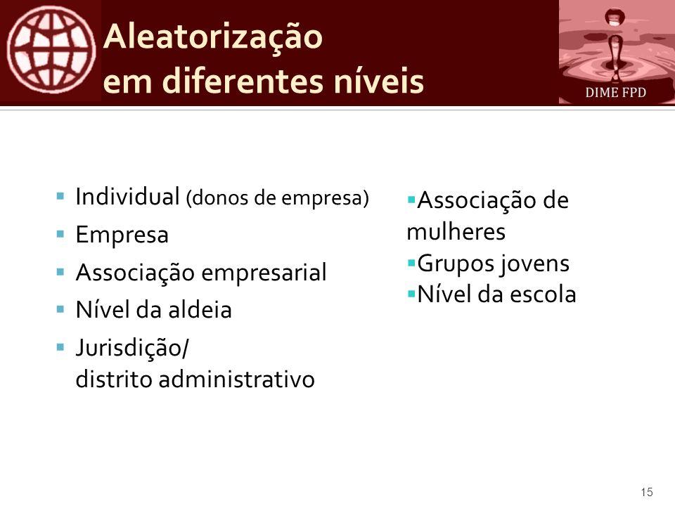 Aleatorização em diferentes níveis