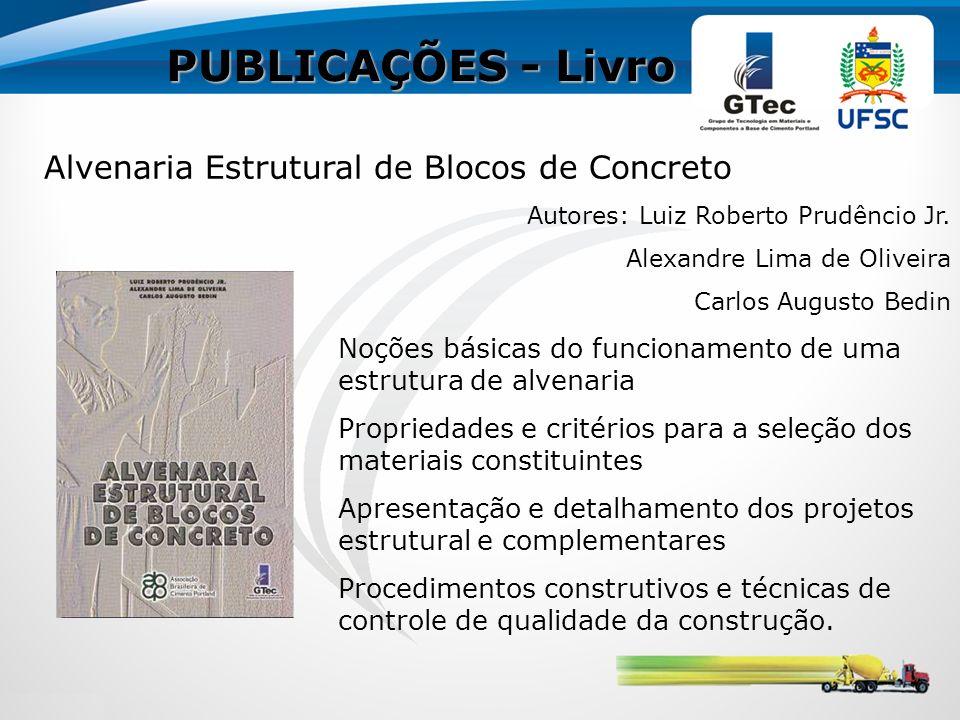 PUBLICAÇÕES - Livro Alvenaria Estrutural de Blocos de Concreto