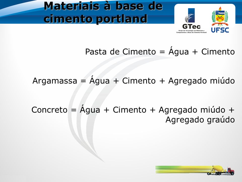 Materiais à base de cimento portland