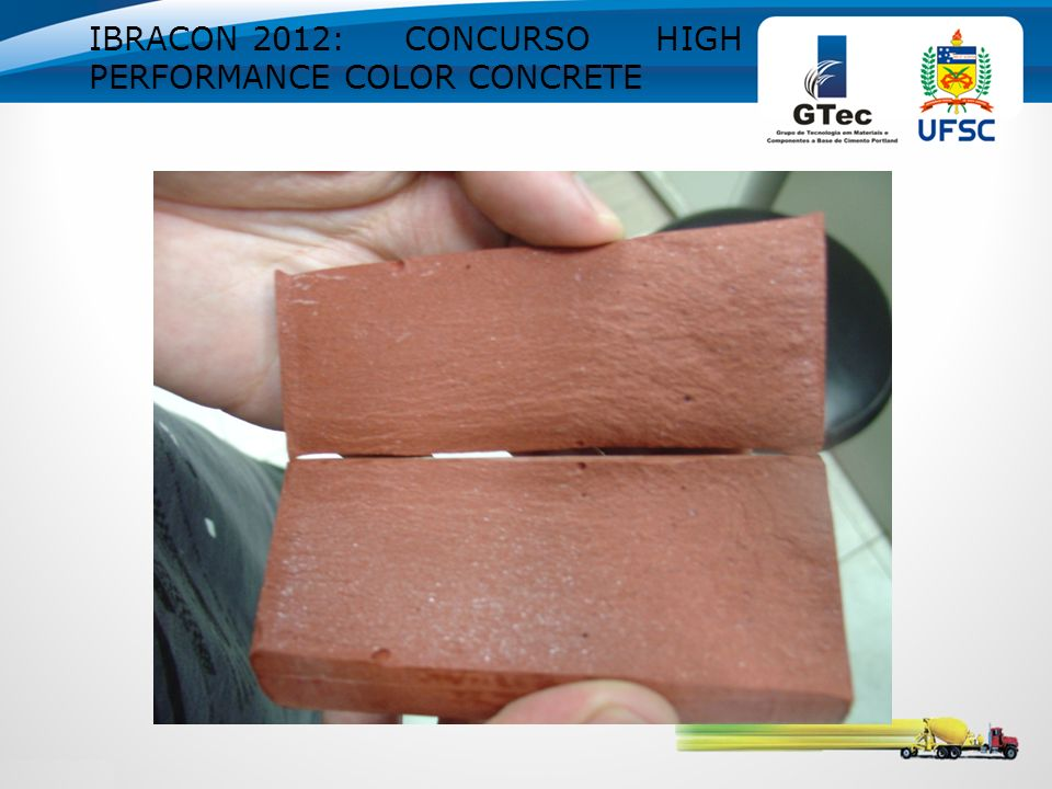 IBRACON 2012: CONCURSO HIGH PERFORMANCE COLOR CONCRETE