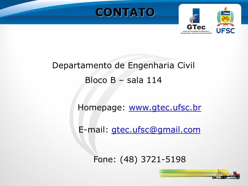 CONTATO Departamento de Engenharia Civil Bloco B – sala 114
