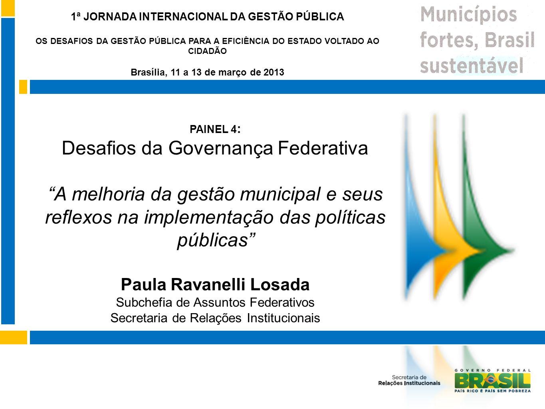 1ª JORNADA INTERNACIONAL DA GESTÃO PÚBLICA Paula Ravanelli Losada