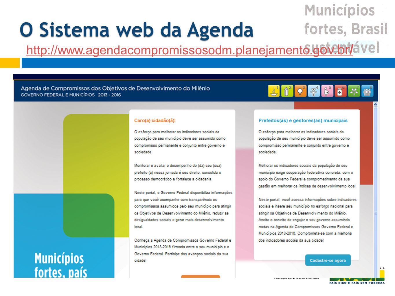 O Sistema web da Agenda http://www.agendacompromissosodm.planejamento.gov.br/