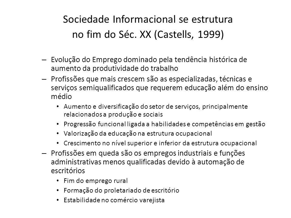 Sociedade Informacional se estrutura