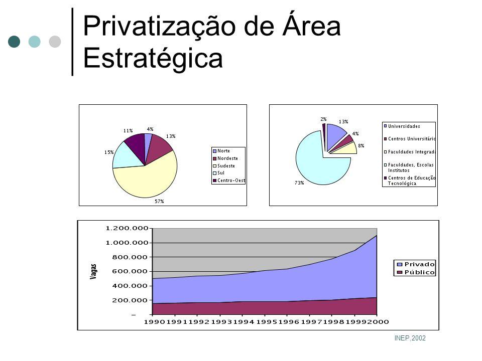 Privatização de Área Estratégica