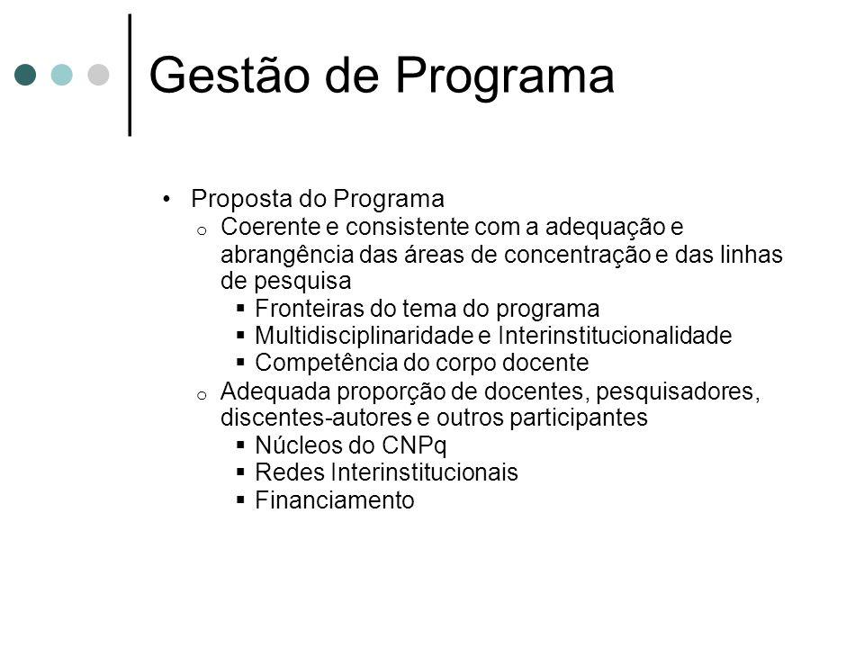 Gestão de Programa Proposta do Programa
