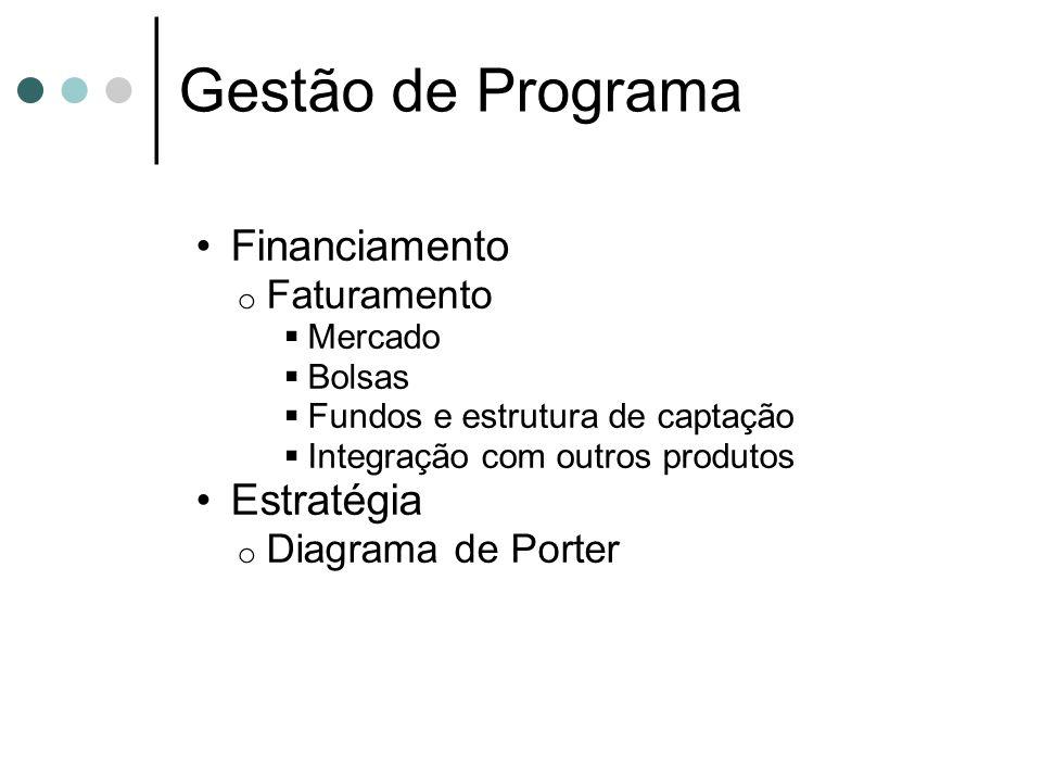Gestão de Programa Financiamento Estratégia Faturamento