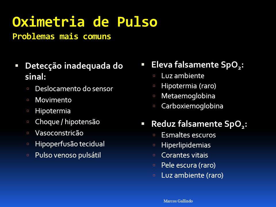 Oximetria de Pulso Problemas mais comuns