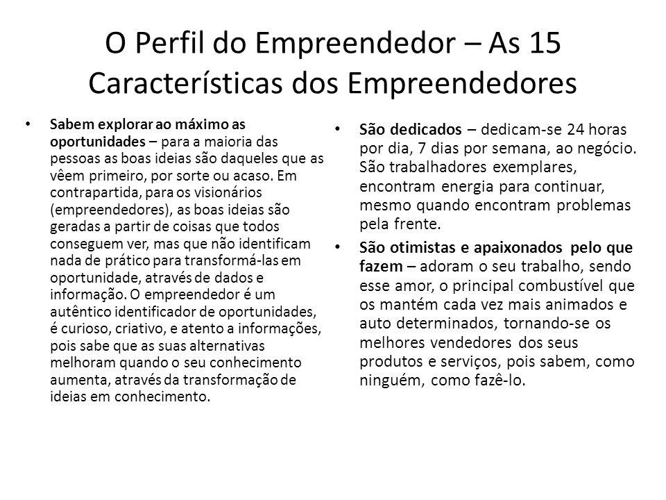 O Perfil do Empreendedor – As 15 Características dos Empreendedores
