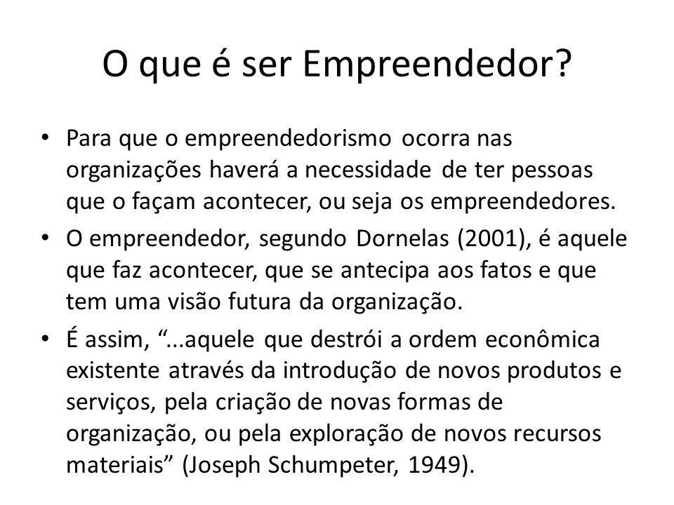 O que é ser Empreendedor