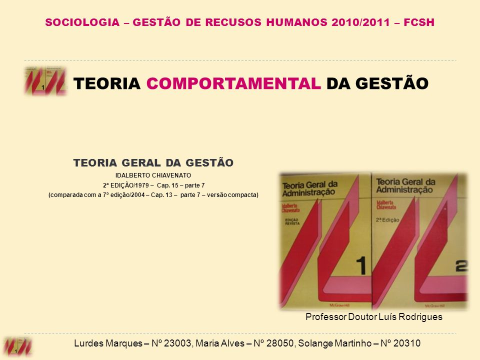 SOCIOLOGIA – GESTÃO DE RECUSOS HUMANOS 2010/2011 – FCSH