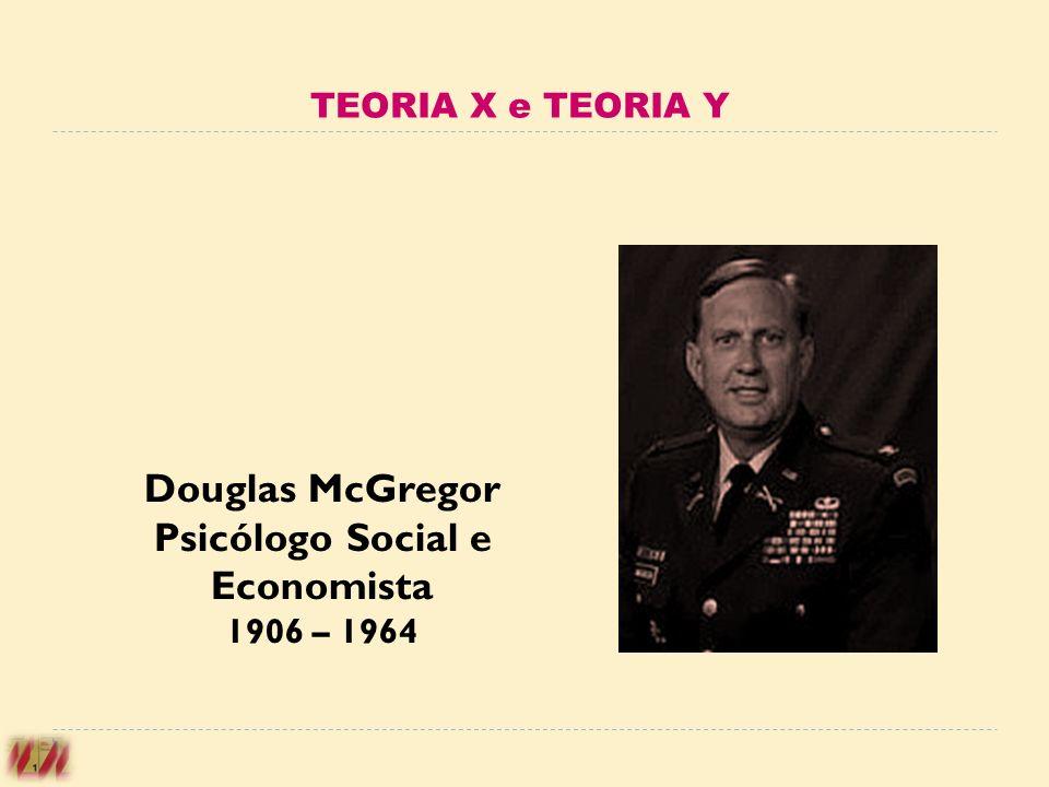 Douglas McGregor Psicólogo Social e Economista