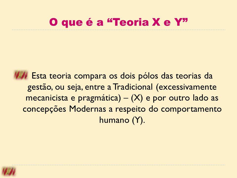O que é a Teoria X e Y
