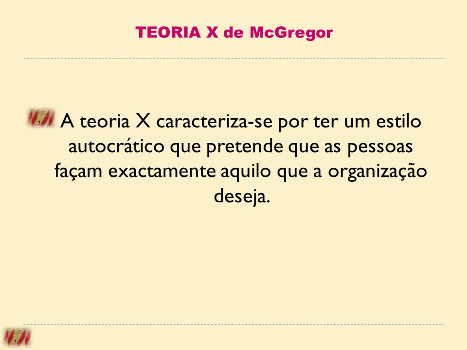TEORIA X de McGregor
