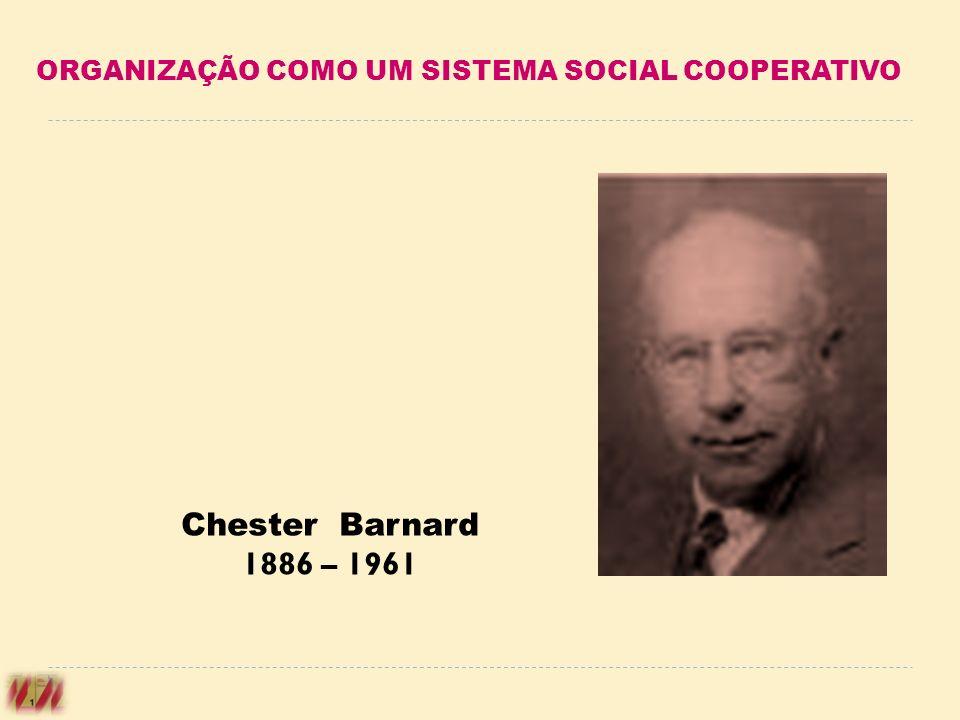 ORGANIZAÇÃO COMO UM SISTEMA SOCIAL COOPERATIVO