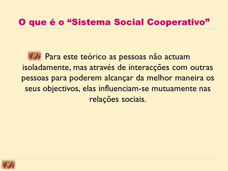 O que é o Sistema Social Cooperativo