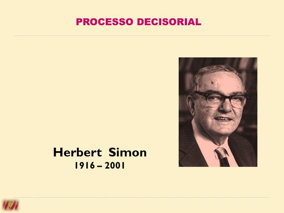 PROCESSO DECISORIAL Herbert Simon 1916 – 2001