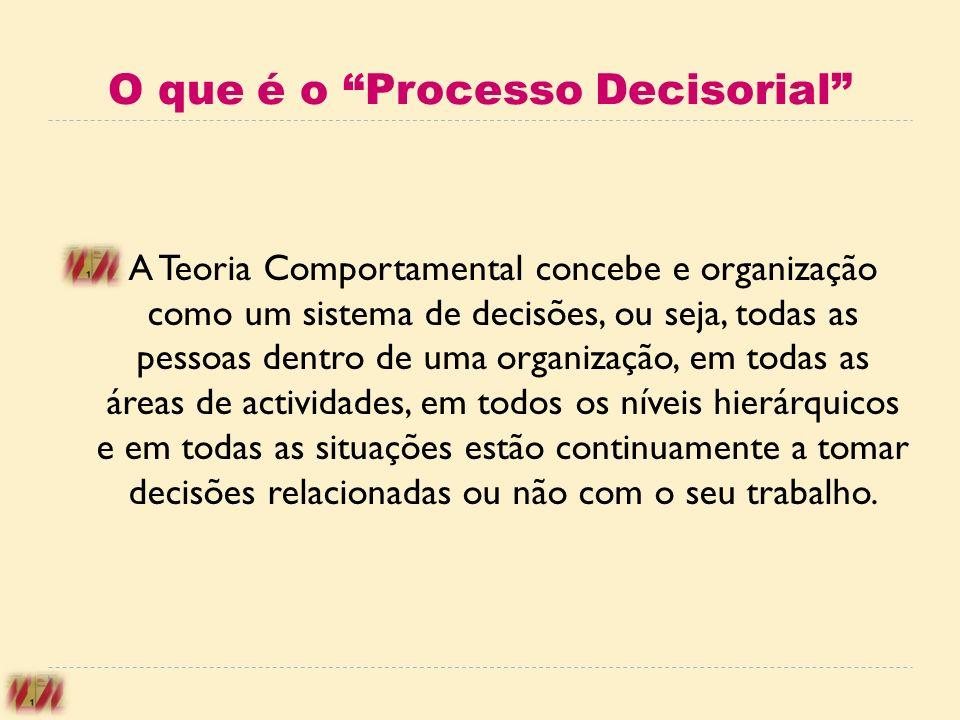 O que é o Processo Decisorial